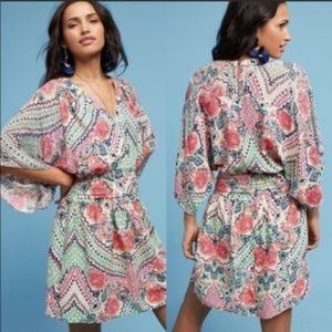 ANTHROPOLOGIE Maeve Siya Kimono Sleeve Dress Sz 2